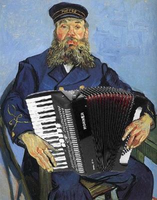 cc Flickr Mike Licht photostream Jolly Joseph Roulin, the Polka Postman, after van Gogh