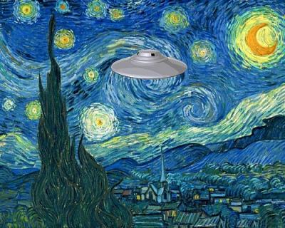 cc Flickr Mike Licht photostream Strange Starry Night, after Van Gogh