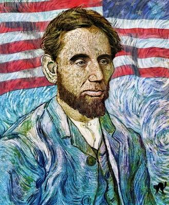 cc Flickr Roberto Rizzato photostream Abraham Lincoln by Van Gogh
