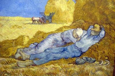 cc Flickr Wally Gobetz photostream Paris - Musée d'Orsay Van Gogh's La méridienne ou La sieste, d'aprés Millet