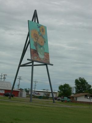 cc Flickr jimmywayne Giant Van Gogh Sunflowers Goodland, Kansas