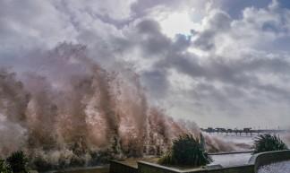 Teignmouth seafront. #devon #sentfromdevon #sea #storm #flooding #floods #England - Christopher Martin