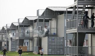 Tijdelijke woonunits asielcomplex Ter Apel - Directie Voorlichting