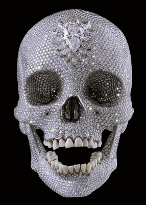 cc Flickr Aaron Weber photostream Damien Hirst's diamond-studded skull