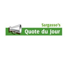 © Sargasso logo Quote du Jour