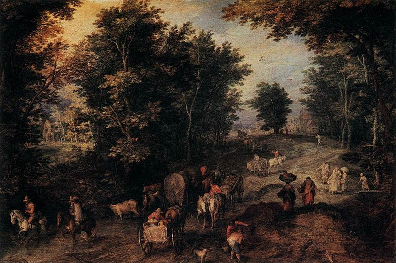 cc commons.wikimedia.org Jan Brueghel (I) - The Caravan