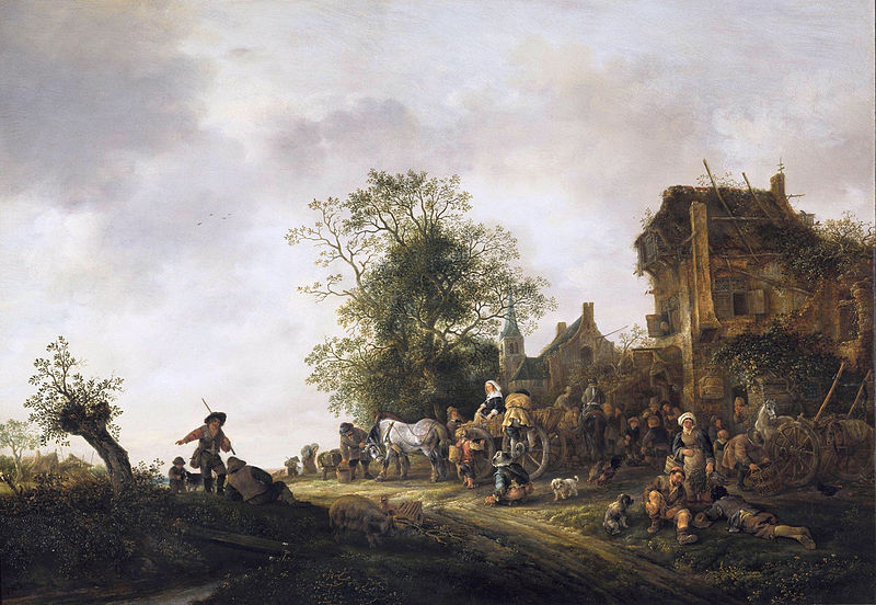 cc commons.wikimedia.org Travellers at a Country Inn 1645 Isaack van Ostade