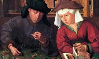 De geldwisselaar en zijn vrouw (1514) Quentin Matsys