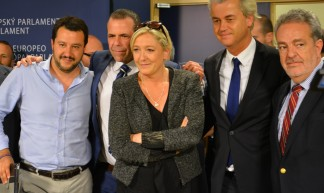 Salvini (Lega Nord), Vilimsky (FPÖ), Le Pen (FN), Wilders (PVV), Annemans (VB) - EurActiv.com