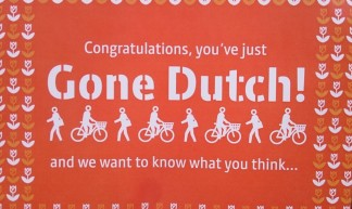 Congratulations, you've just Gone Dutch and we want to know what you think... - Duncan Hull