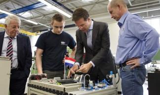 Uitleg in de bedrijfsschool - Minister-president Rutte