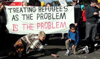 Treating Refugees as the problem is the problem - Refugee Rights Protest at Broadmeadows, Melbourne - Takver