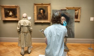 'Rembrant is Watching', United States, New York, New York City, Metropolitian Museum of Art, Rembrant Painting - Chris Ford