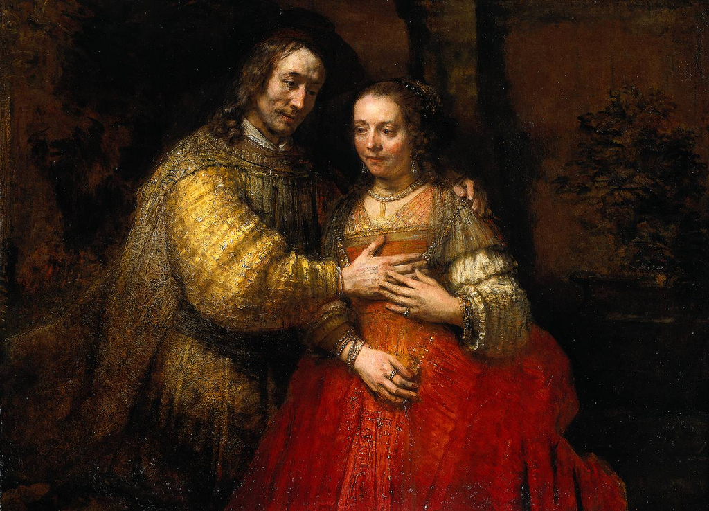 cc Flickr Plum leaves photostream Rembrandt The Jewish Bride 1667 Oil on canvas