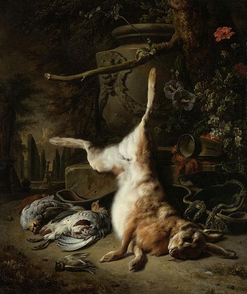 cc commons.wikimedia.org Jan Weenix Stilleven met haas en andere jachtbuit Rijksmuseum