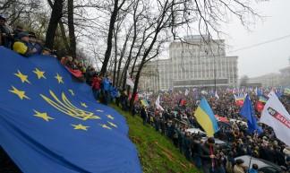 Holding an EU flag - Ivan Bandura