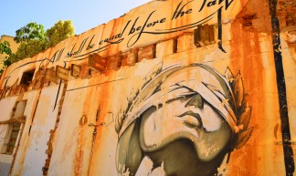 All shall be equal before the law: justice graffiti in Cape Town, South Africa - Ben Sutherland