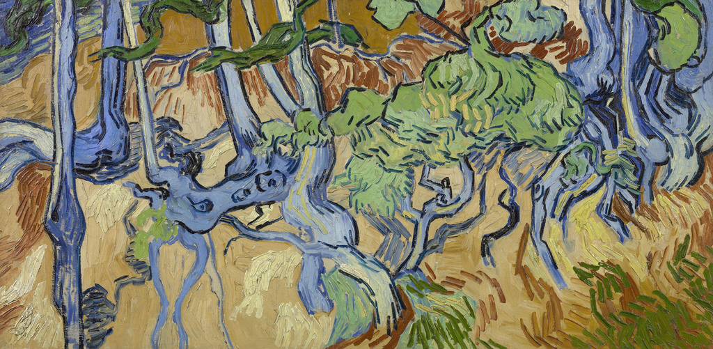 cc Flickr - Gandalf's Gallery - Vincent van Gogh - Tree Roots, 1890.