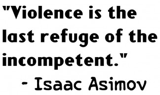 Isaac Asimov Quote on Violence - Ammon Beckstrom