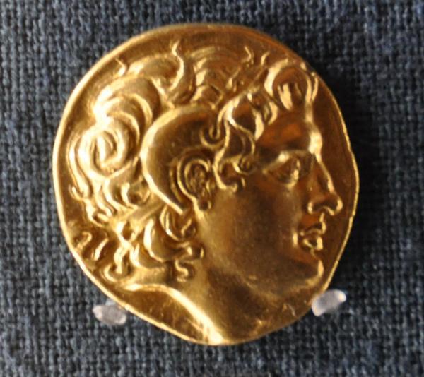 Alexander met ramshoorns (Numismatisch museum, Athene)