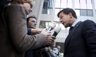 Arrival of Mr. Mark Rutte, Dutch Prime Minister at the European Council, 23 October 2011 - European Council