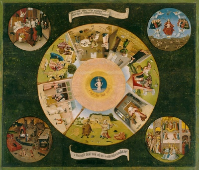 cc Flickr Gandalf's Gallery Hieronymus Bosch – Table of the Mortal Sins Late 15th century