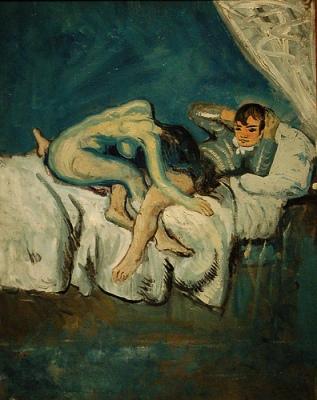 cc Flickr Gautier Poupeau Scène érotique connu sous La douleur, Pablo Picasso, automne 1902