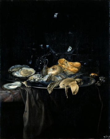 cc Flickr Plum leaves An oyster breakfast 1679 Willem van Aelst