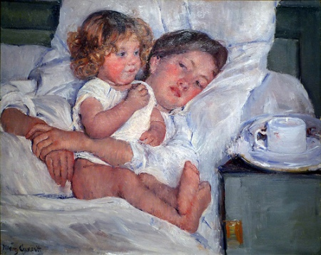 cc Flickr Steven Zucker Cassatt, Breakfast In Bed