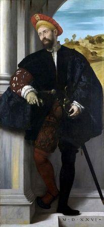 cc commons.wikimedia.org Moretto da Brescia Ritratto virile a figura intera 1526
