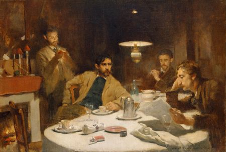 cc commons.wikipedia.org Willard Leroy Metcalf - The Ten Cent Breakfast
