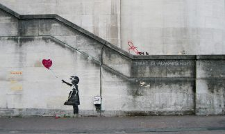 Banksy Girl and Heart Balloon - Dominic Robinson