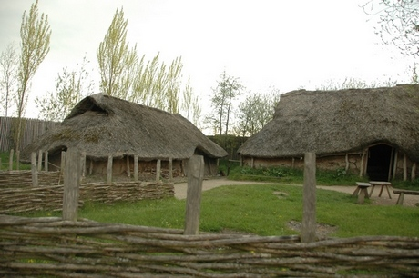Archeon: nagebouwde terpenboerderij van Ezinge