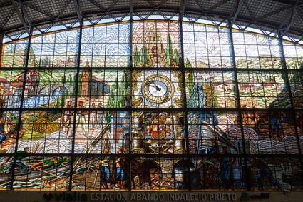 cc Flickr Coralie Mercier photostream Stained glass at Estación de Abando Indalecio Prieto