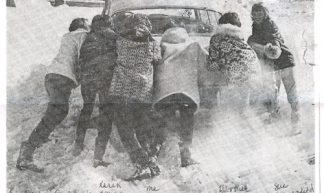 Guilford Girls Push Car Out - spotty417