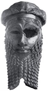 Bronzen hoofd van een Akkadische koning (waarschijnlijk Sargon van Akkad). Nationaal Museum Irak.