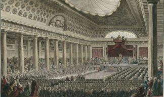 De Franse Staten-Generaal in de Salle de Menus-Plaisirs te Versailles komt bijeen op 5 mei 1789. De geboorte van Links en Rechts