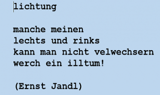Gedicht van Ernst Jandl over links en rechts
