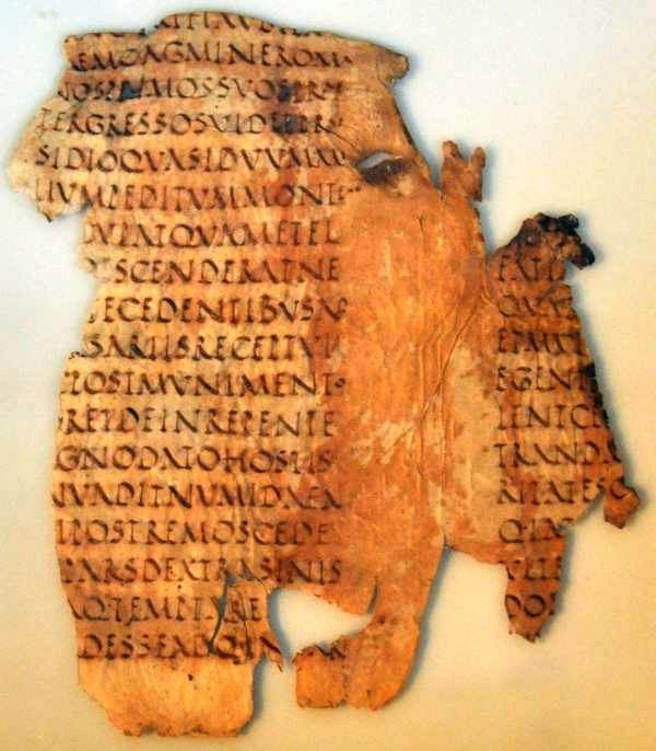 Fragment uit uit Sallustius' Oorlog tegen Jughurtha