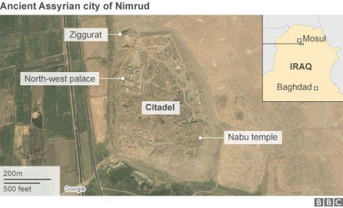Luchtfoto van Nimrud in betere tijden. Bron: http://www.bbc.com/news/world-middle-east-37992394