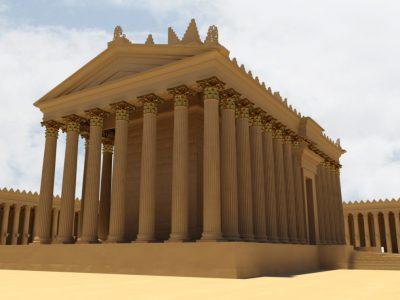 Reconstructie van de Tempel van Bel. Bron: http://www.newpalmyra.org/