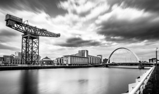Clyde arch, Glasgow, Scotland - Black and white cityscape photography - Giuseppe Milo