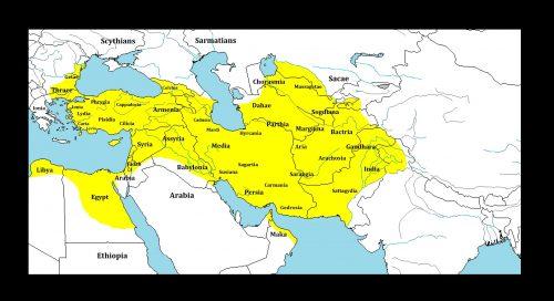 Het Perzische Rijk rond 500 v. Chr.