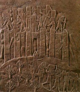 Verwoesting van de Elamitische hoofdstad Susa door de Assyrische koning Ashurbanipal. Foto gemaakt door Zereshk.