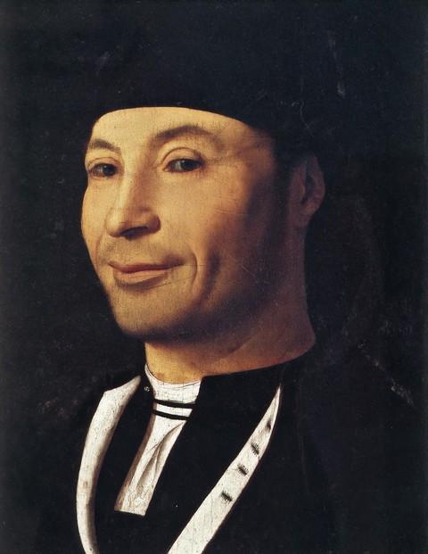 Antonello da Messina (1430–1479): Portret van een man (omstreeks 1465-70), olieverf op paneel. Museum Mandralisca, Cefalu, Italië