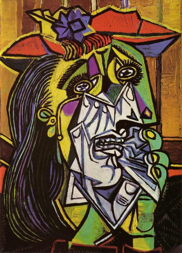 Pablo Picasso (1881-1973): Femme en pleurs (1937), olieverf op doek (Tate Gallery, Londen)