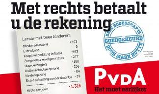 Poster PvdA - Partij van de Arbeid