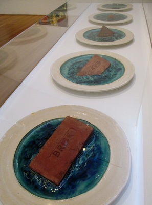cc Flickr rocor photostream Sinking Brick Plates, 1969. Ceramic (1930-1992) Anderson Collection
