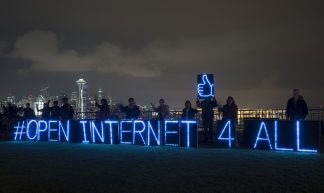 Rolling Rebellion Sparks in Seattle to Defend Internet & Stop the TPP - Backbone Campaign