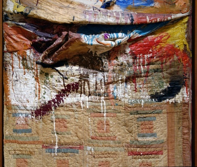 cc Flickr Steven Zucker photostream Robert Rauschenberg, Bed (detail)